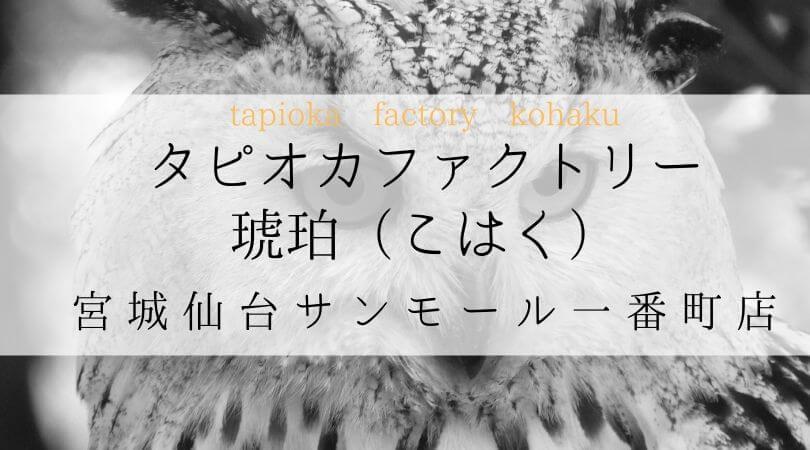 タピオカファクトリー琥珀(こはく)TPIOKAFACTORYKOHAKU宮城仙台サンモール一番町店