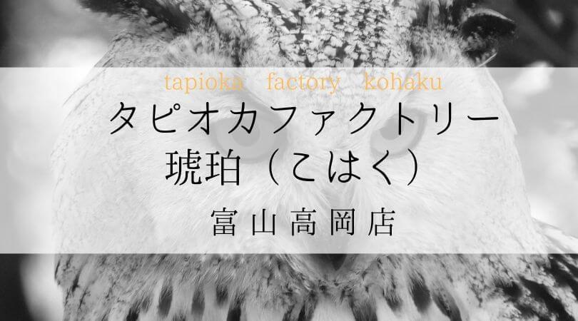 タピオカファクトリー琥珀(こはく)TPIOKAFACTORYKOHAKU富山県富山高岡店