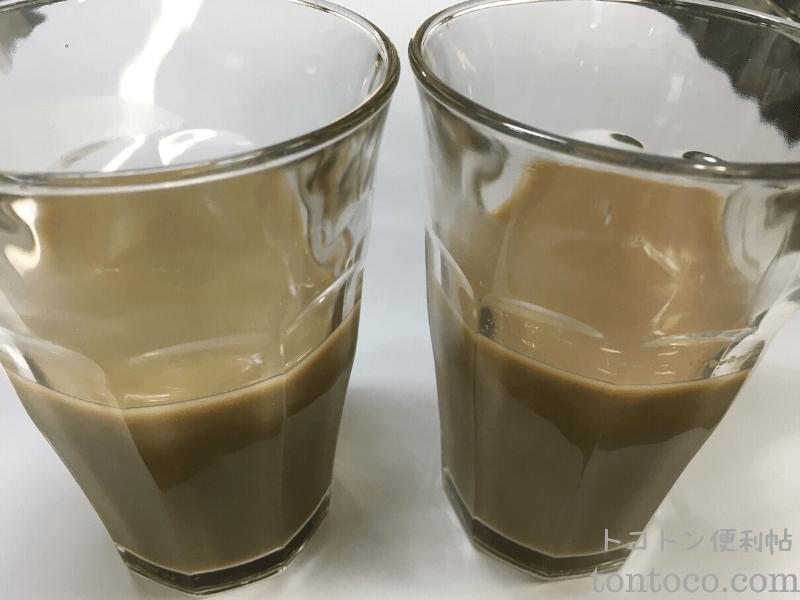 タピオカドリンク作り方ホット 手順ブレンディースティック紅茶オレほうじ茶オレ少し冷めたらグラスへ